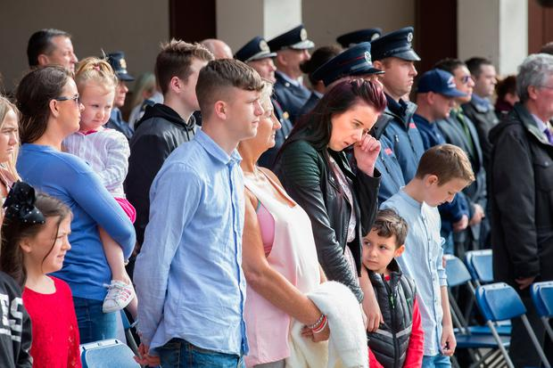 Family members, including Brian Murray's daughter Fiona also attended. Photo: Tony Gavin