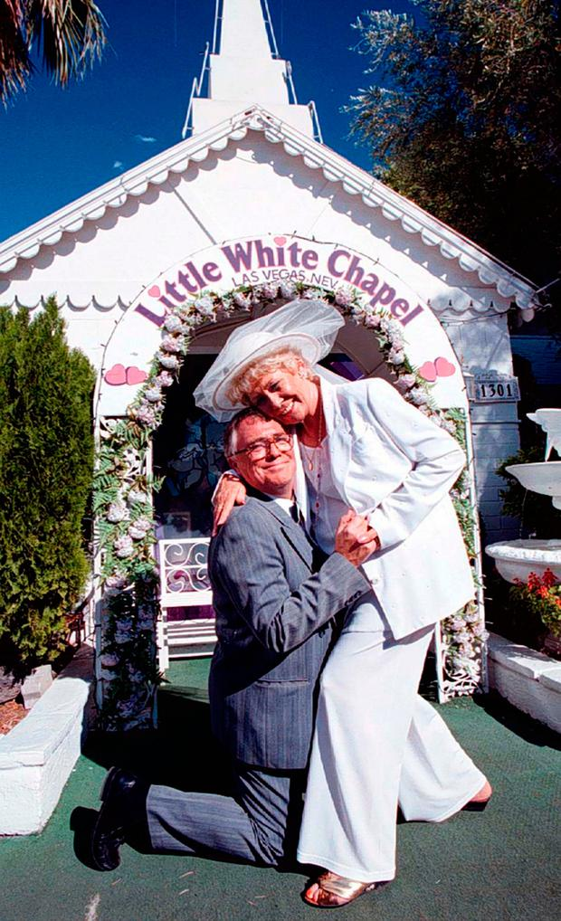 Liz Dawn and Bill Tarmey in 1997. Photo: PA