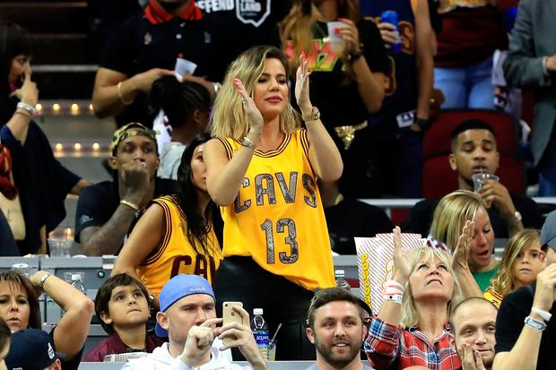 TV personality Khloe Kardashian attends Game 4 of the 2017 NBA Finals between the Golden State Warriors and the Cleveland Cavaliers at Quicken Loans Arena on June 9, 2017 in Cleveland, Ohio