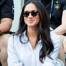 Meghan Markle watches a Wheelchair Tennis match at the 2017 Invictus Games in Toronto, Canada