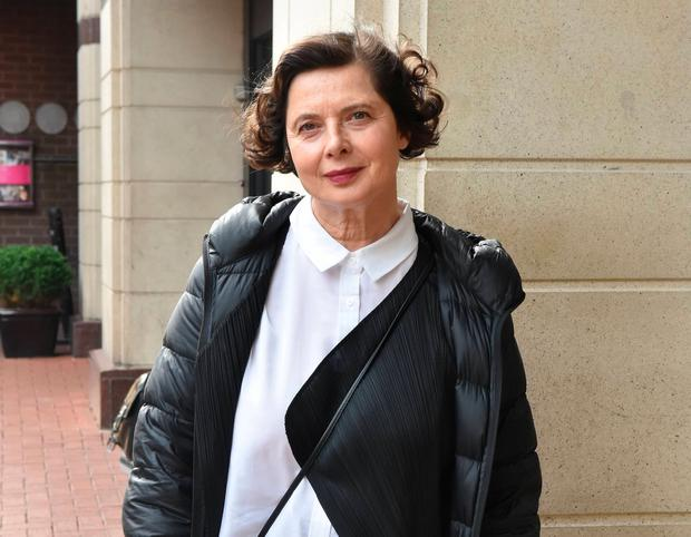 Isabella Rossellini spotted at The Westbury Hotel