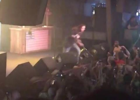 Post Malone embarking on an ill fated stage dive
