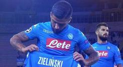 Lorenzo Insigne's attempt to 'pay tribute' to an injured teammate failed miserably