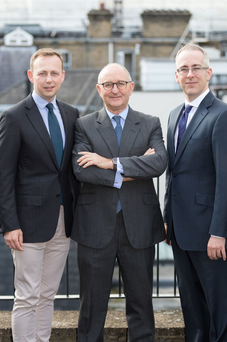 Domhnall Gaffney, Mike Weston, and Gareth Williams of PMM