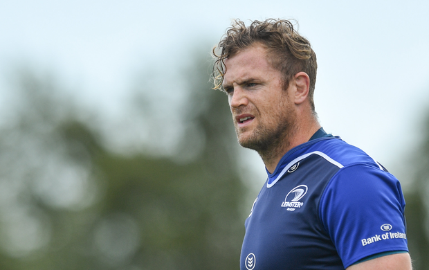 Jamie Heaslip of Leinster during an open training session at Arklow RFC in Arklow, Co Wicklow. Photo by Ramsey Cardy/Sportsfile
