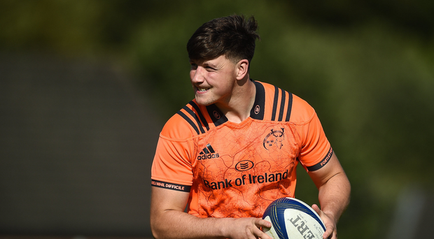 Fineen Wycherley of Munster during Munster Rugby Squad Training at the University of Limerick in Limerick. Photo by Diarmuid Greene/Sportsfile