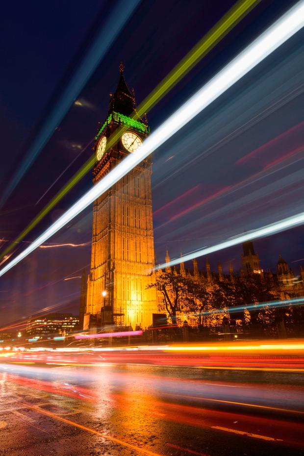 Irish holidaymakers are taking advantage of the weak pound to visit sights such as London's Big Ben. Photo: Vitor Marigo