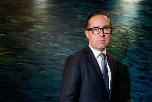 As well as engineering a stunning financial turnaround at Qantas, Alan Joyce is taking a leading role in supporting the campaign for a Yes vote in Australia's forthcoming referendum on same-sex marriage. Photographer: Giulia Marchi/Bloomberg