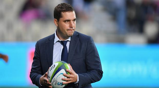Head Coach Dave Wessels of the Force looks on prior to the round five Super Rugby match between the Crusaders and the Force at AMI Stadium on March 24, 2017 in Christchurch, New Zealand. (Photo by Kai Schwoerer/Getty Images)