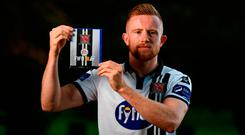 Pictured at the launch of FIFA 18 Club packs at the Iveagh Gardens in Dublin is Sean Hoare of Dundalk. Photo: Stephen McCarthy/Sportsfile
