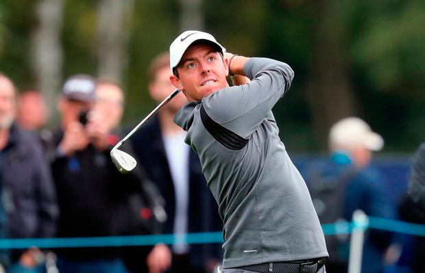 Rory McIlroy during the Pro-Am of the British Masters at Close House. Photo credit: Owen Humphreys/PA Wire.