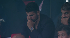 Diego Costa looked on in despair as Chelsea beat Atletico Madrid