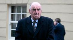 George Hook at a protest at Leinster House. Photo: Collins