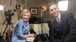 Hillary Clinton and Ryan Tubridy