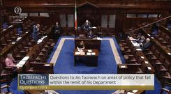 Only an handful of TDs were present when the Taoiseach and Mary Lou McDonald exchanged words for a second time in a matter of days