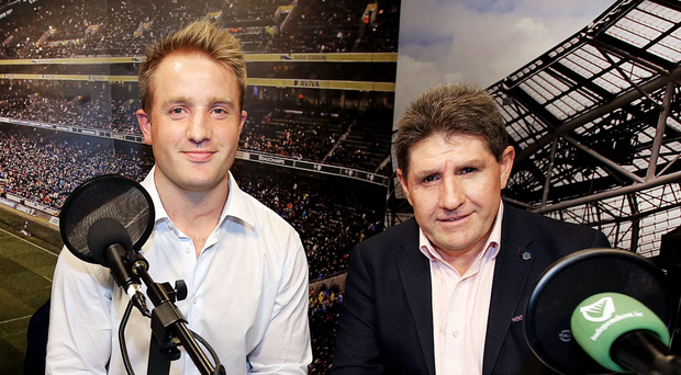 Luke Fitzgerald and Paul Kimmage in The Left Wing studio this week