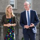 Ministers Simon Coveney and Helen McEntee at the All-Island Civic Dialogue on Brexit at the Royal Hospital Kilmainham, Dublin, yesterday