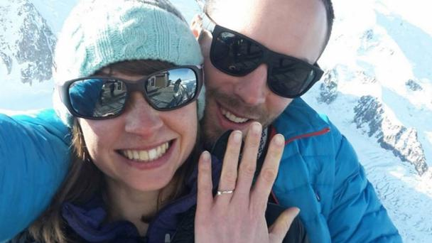 Andrew Foster who has been crushed to death by falling rocks at Yosemite National Park while hiking with his wife, who was also badly hurt.