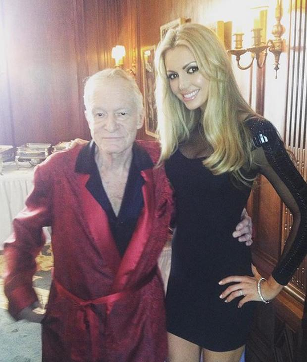 Rosanna Davison with Hugh Hefner