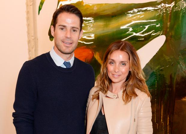 Jamie Redknapp (L) and Louise Redknapp attend a private view of