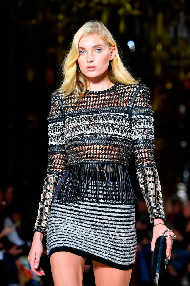 Elsa Hosk walks the runway during the Balmain show as part of the Paris Fashion Week Womenswear Spring/Summer 2018 on September 28, 2017 in Paris, France. (Photo by Pascal Le Segretain/Getty Images)