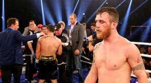Dennis Hogan of Ireland looks dejected after the WBA World Championship Light Middleweight title fight at Inselparkhalle on December 5, 2015 in Hamburg, Germany. (Photo by Martin Rose/Bongarts/Getty Images)