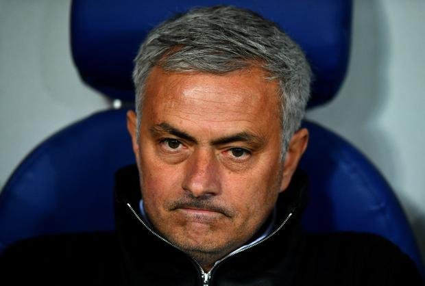Jose Mourinho, Manager of Manchester United looks on prior to the UEFA Champions League group A match between CSKA Moskva and Manchester United at WEB Arena on September 27, 2017 in Moscow, Russia. (Photo by Dan Mullan/Getty Images)