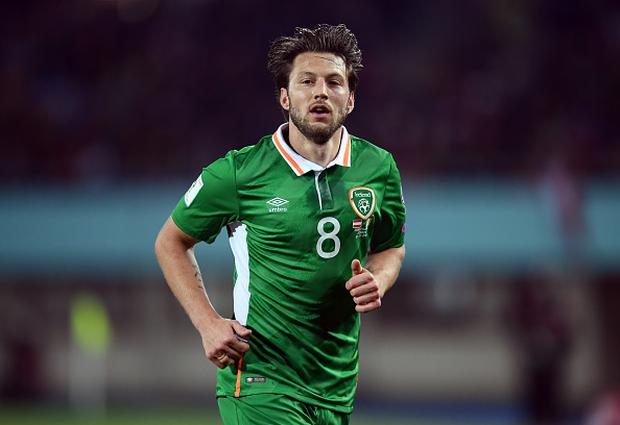 Harry Arter of Republic of Ireland during the FIFA World Cup Group D Qualifier match between Austria and Republic of Ireland at the Ernst Happel Stadium in Vienna, Austria. (Photo By Stephen McCarthy/Sportsfile via Getty Images)