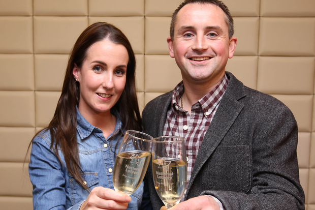 Declan Ward pictured with his fiance Nicola McEneaney. Photo: Mac Innes Photography