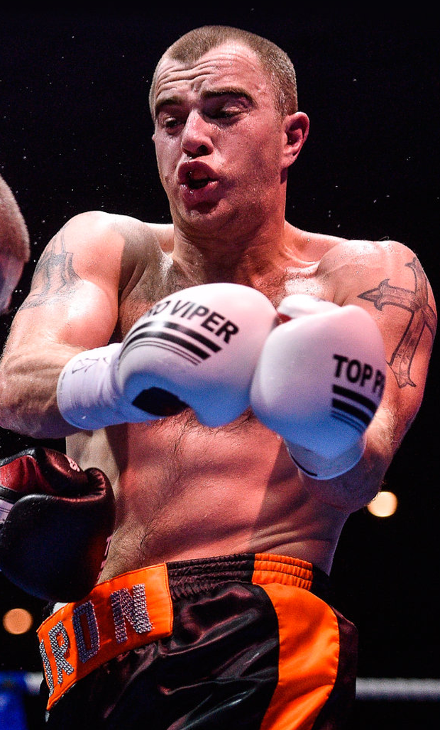 Craig O'Brien is feeling confident ahead of his challenge for the BUI Celtic light middleweight title. Photo: Sportsfile