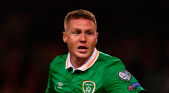 'If McCarthy (above) is included in Ireland's final squad, he would be obliged to report to Dublin to be assessed by medical staff but Koeman would be miffed by that.' Photo: Brendan Moran/Sportsfile