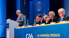 Frank Murphy, Secretary of the Cork County Board, speaking during a GAA Special Congress at Croke Park in Dublin. Photo by Piaras Ó Mídheach/Sportsfile