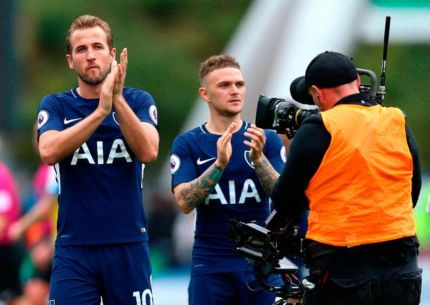 Harry Kane reacts after the final whistle