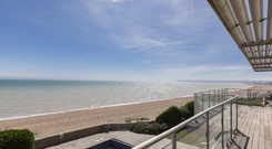 Balcony views from the Bexhill-on-sea property. Photo: RightMove