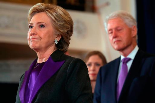 Hillary Clinton makes a statement after losing out to Donald Trump in the presidential election