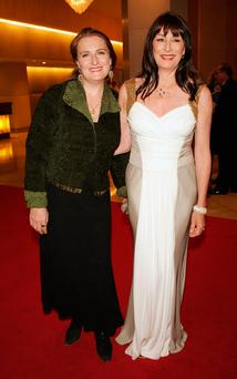 Author Allegra Huston (left) with her actress sister Anjelica