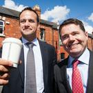 Leo Varadkar and Paschal Donohoe. Picture: Collins
