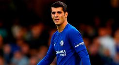 Alvaro Morata insists he is content with his new life in London