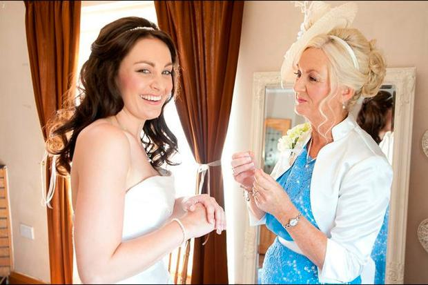Alison Coyle on her wedding day with her mum Syliva who passed away this year