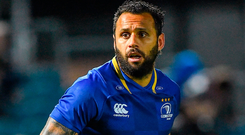 Nacewa pulled a calf during the first half of the Blues' defeat in Bloemfontein and missed Friday's stuttering win over Edinburgh. Photo by Brendan Moran/Sportsfile
