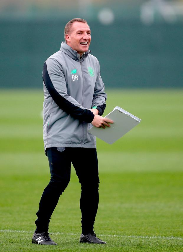 """Rodgers: """"Hibs played very well. They have got good pace, power and energy, and it was a really tough game for us."""" Photo credit: Jane Barlow/PA Wire"""