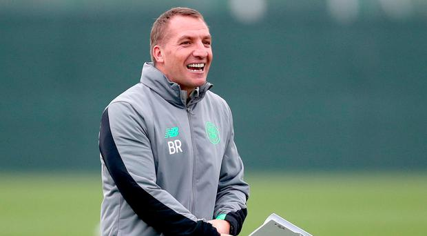 "Rodgers: ""Hibs played very well. They have got good pace, power and energy, and it was a really tough game for us."" Photo credit: Jane Barlow/PA Wire"