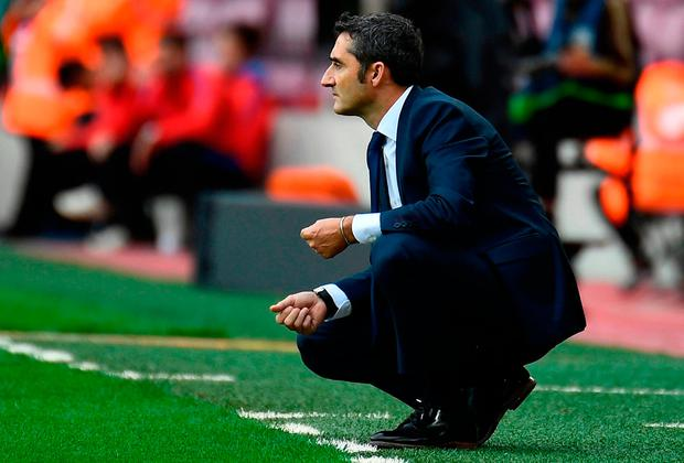 Barcelona's coach Ernesto Valverde. Photo: Getty Images