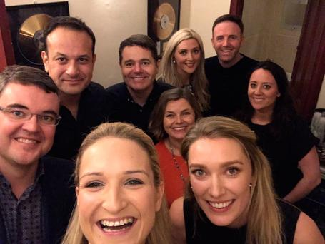 Minister of State for European Affairs Helen McEntee took a selfie with, among others, Leo Varadkar and Paschal Donohoe, before the LCD Soundsystem gig