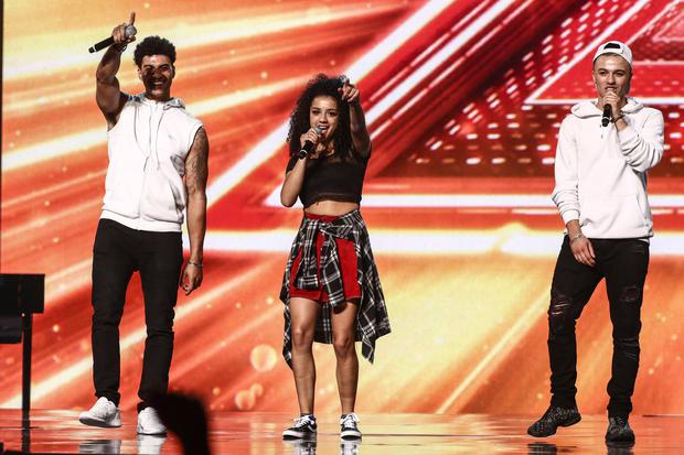 X Factor contestant The Cutkelvins during the Bootcamp stage on episode 10 of the ITV1 talent show, The X Factor. Photo: Tom Dymond/Syco/Thames/ITV/PA Wire