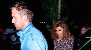 Ryan Gosling and Eva Mendes seen at Tao Restaurant for SNL after party on September 30, 2017 in New York City. (Photo by Robert Kamau/GC Images)