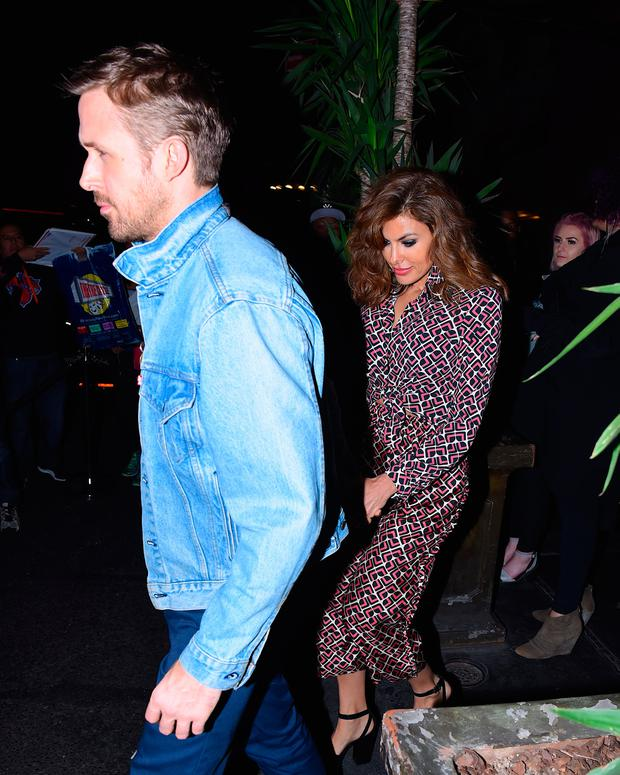 Eva Mendes and Ryan Gosling made a (very) rare appearance