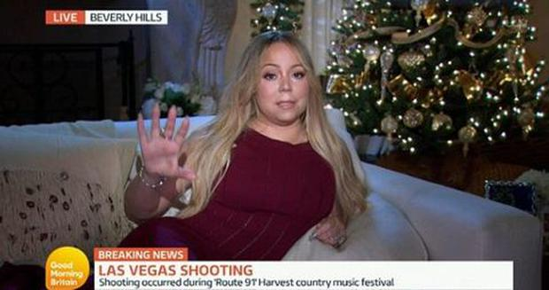 Mariah Carey learns of the Las Vegas shooting live on GMB