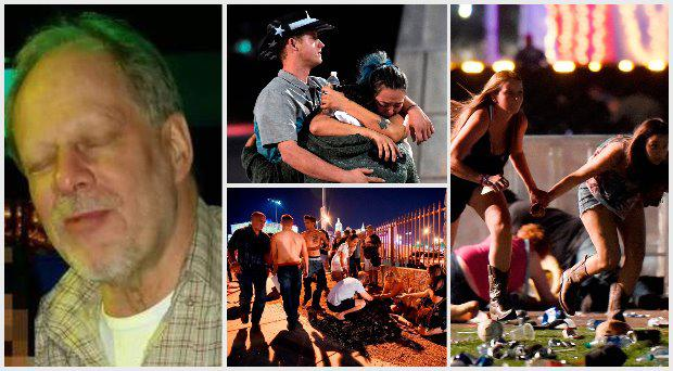 The gunman - named by police as Stephen Paddock (64) - opened fire from a hotel room on hundreds of poeple attending a music concert in Las Vegas