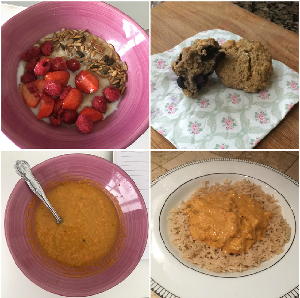 Some of the meals Amy Mulvaney made from Roz Purcell's Half Hour Hero book.